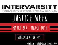 Intervarsity: Justice Week Promotional Material