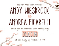 Wedding Invitation Design: Andy & Andrea
