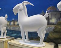 Escultura de cabra payoya para Cádiz Turismo Fitur 2014
