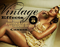 Vintage Effects for Photo, Designs 4 - Canvas, textile