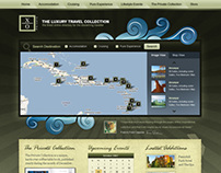 luxary travel collection website layout