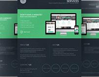 Dark Web Design Services Flyer Template