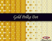 Classic Gold Polka Dot Digital Paper Gold Print sheets