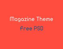Magazine Theme / Free PSD