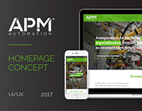 APM Automation - Homepage Concept
