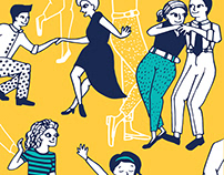 Lindy hop (swing dance) poster