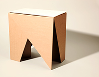 Flat-Pack Cardboard Stool