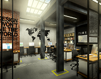 Industrial Office Interior