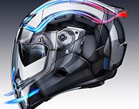 ICON Airflite Helmet Technical Illustration