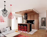 Project livingroom in red