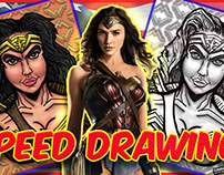 Wonder Woman Bust Speed Drawing!
