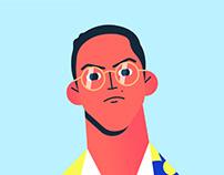 ATTITUDE - Face vector illustration