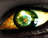 Syrian child's eye