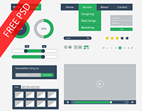 Flat UI Kit Design