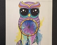 OWL & DREAMCATCHER ILLUSTRATION