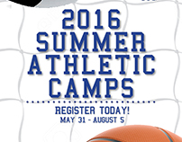 "30"" x 60"" pole banner for HCA's Summer Athletic Camps"