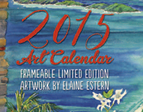 Coconut Coast Studios 2015 art calendar