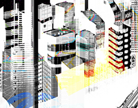 Tokyo Inspired Abstract Digital Cityscapes II