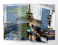 Running Travel Magazine Concept