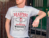 DeadPool Whiskey  T Shirt