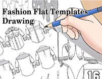 Fashion Flat Templates Drawing for Illustrator stuff