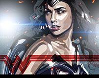 Wonder Woman como ilustración vectorial