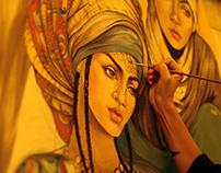 Fresco in Oriental style