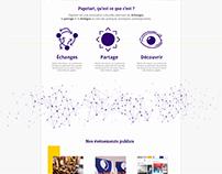 Picto + visu site papotart.com
