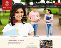 Chennai University Website Design