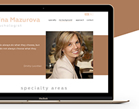 Nina Mazurova — website design