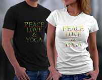 Peace love And Yoga T-Shirts