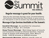 Summit Massage Rack Card 2016 - Back