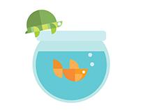 GEOMETRIC marine life