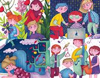 FIRST SCHOOL DAY child illustrations на добър час!