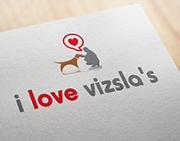 vizsla dogs lovers logo