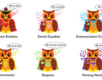 Owl Icon Characters
