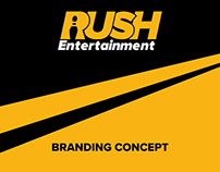 RUSH Entertainment Branding Concept