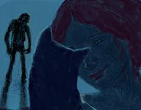 'The black cat'