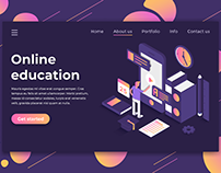 Online Education Landing Page Design
