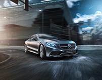 Mercedes-Benz S63 AMG full CGI scene