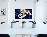 set of illustrated and edited canvas designs