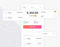 Wallet App, UX/UI , App design , Graphic designer