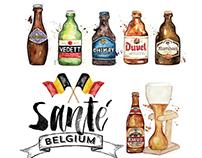 Belgium Beers poster
