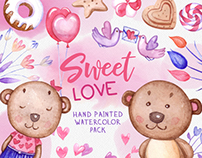 Sweet Love — Watercolor collection