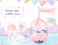Party Invitation + Birthday Illustration