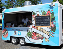 'Fed By Ed' Food Truck Illustration