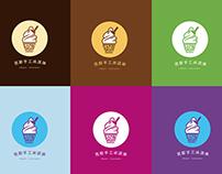 Logo design of ice cream shop