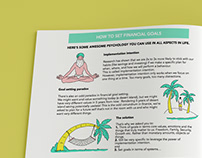 Illustrations and design for a workbook