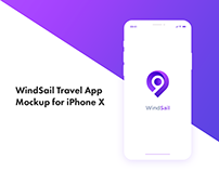 Travel App Mockup for iPhone X
