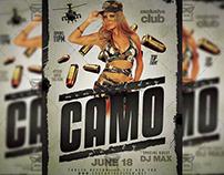 Memorial Day Camo Party - Club A5 Template